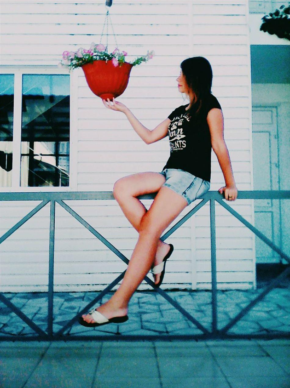Hi! Hello World That's Me Enjoying Life азовскоеморе Summer 2015  Sunny Day Relaxing Holiday