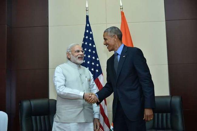 Democracy USA India Modi Obama Enjoy Life Good Friends Leader Colour Of Life World Leaders