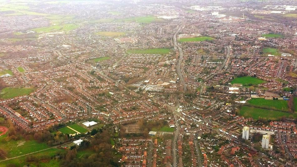 From The Airplane Window From The Plane Window View From The Airplane Window From The Aircraft Window Stockport Council. Stockport Houses Cityscape Cityscapes