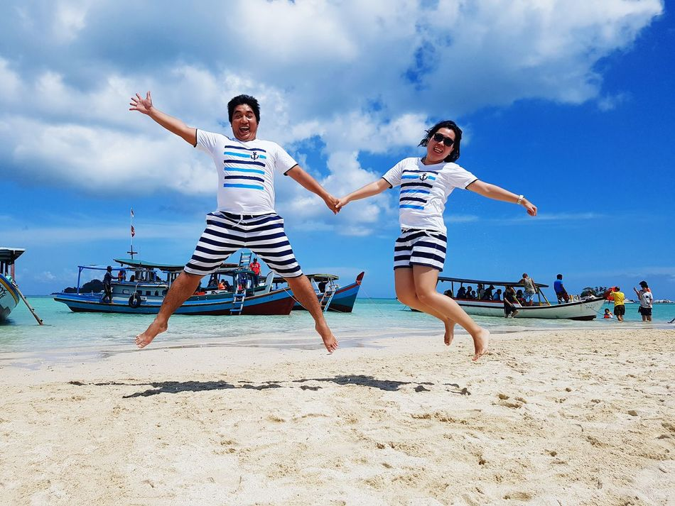 You cant always wait for the perfect time, sometimes you must dare and jump. Vacation Short Trip Ourstory Beach Hello World