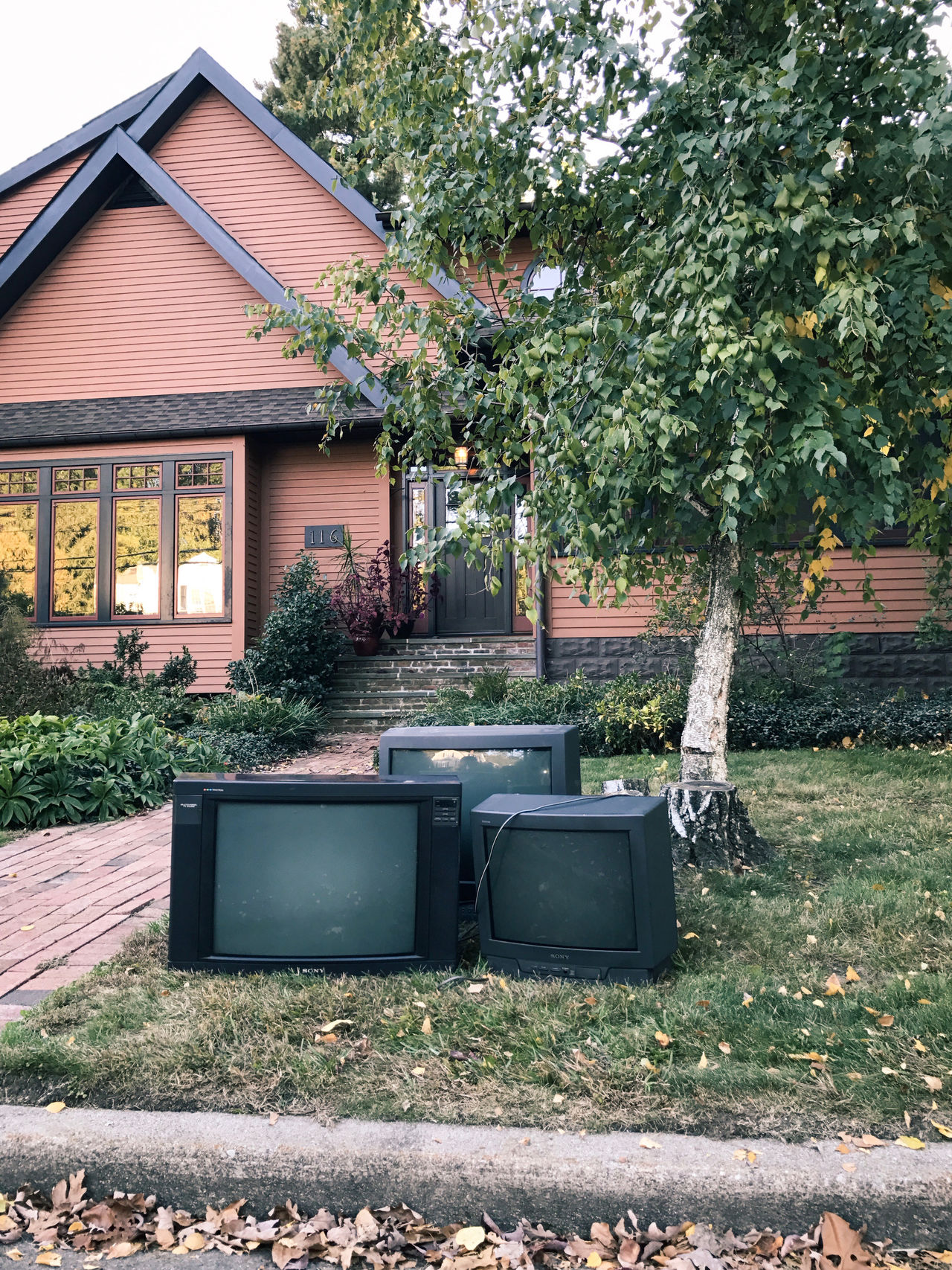 Old televisions. New Jersey, USA. Photo by Tom Bland. Abandoned Change City Consumption  Discarded Disruption E-waste Entertainment Environmental Issues Garbage IPhone IPhoneography Old Outdated Outdoors Street Suburbia Suburbs Technology Television Televisions Thrown Away Tv Unloved Useless