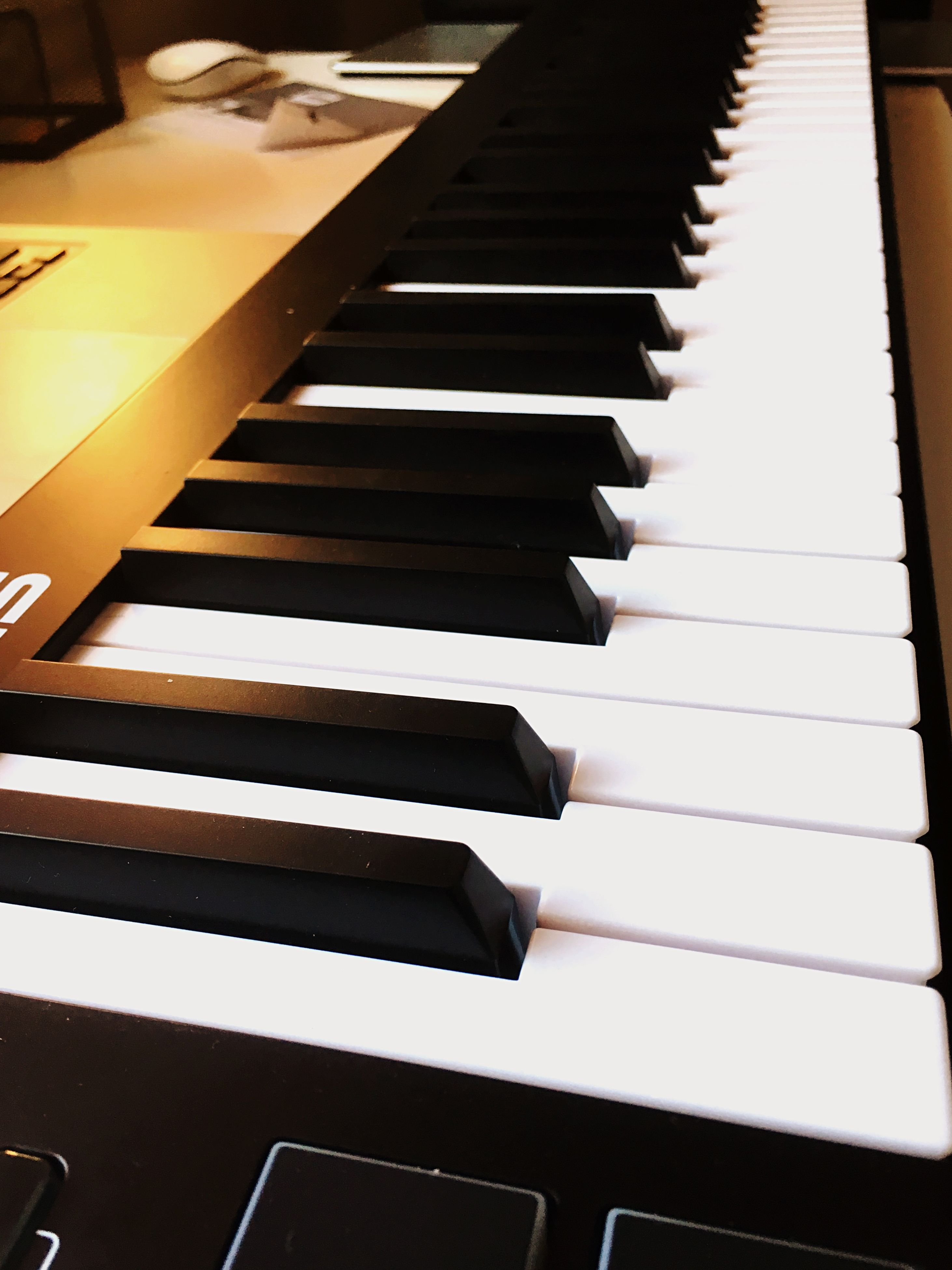 indoors, piano key, music, close-up, musical instrument, high angle view, paper, piano, in a row, musical equipment, no people, part of, education, arts culture and entertainment, book, white color, still life, page, technology, cropped