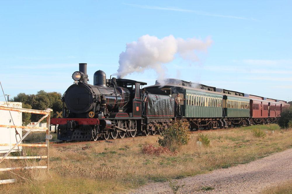 Steam Train Train - Vehicle Locomotive Rail Transportation Old-fashioned Railroad Track Day Steam South Australia, Adelaide