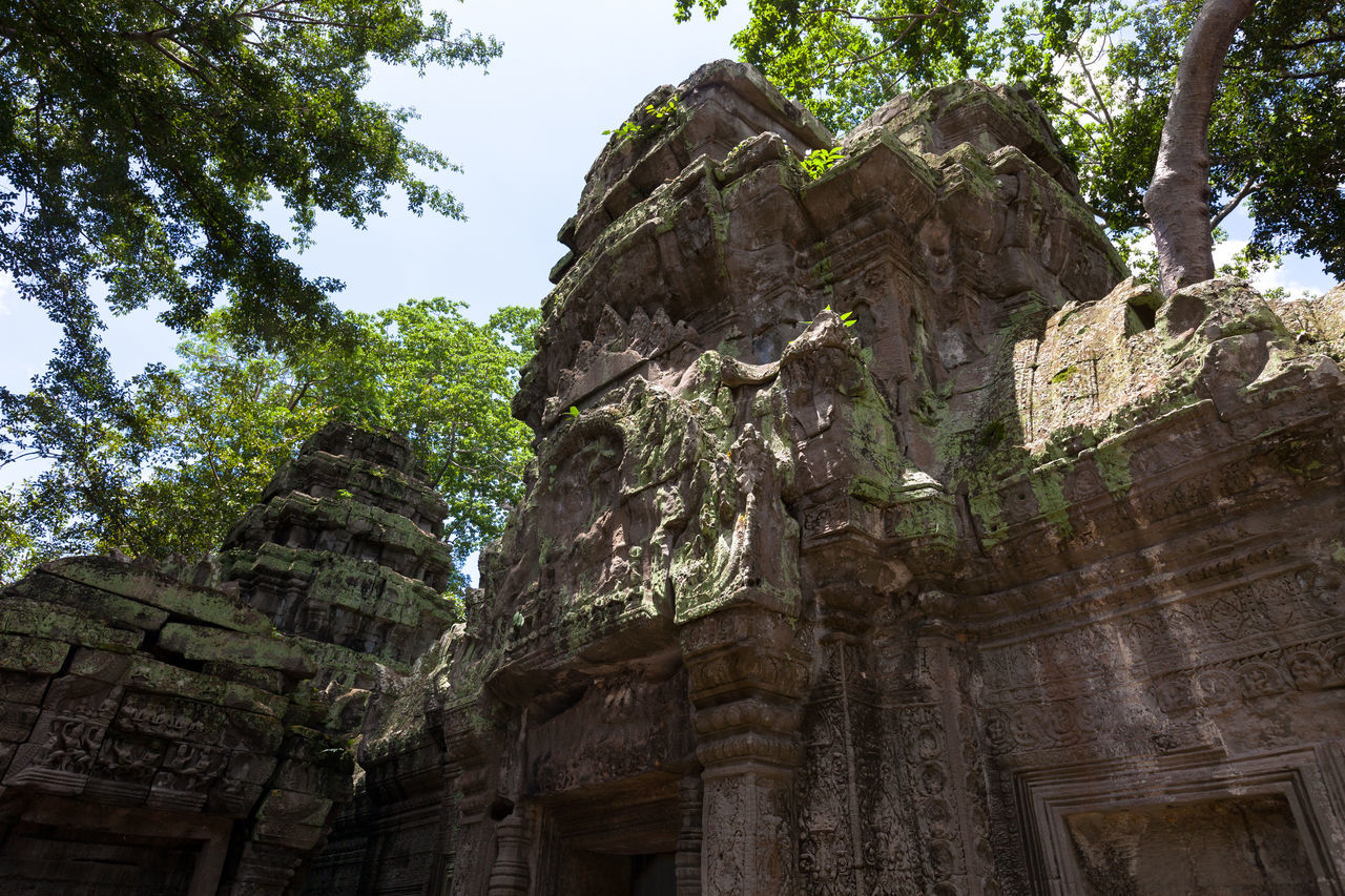 Ancient Ancient Civilization Angkor Thom Architecture Cultures Day History Low Angle View No People Old Ruin Outdoors Place Of Worship Religion Spirituality Tourism Travel Travel Destinations Tree
