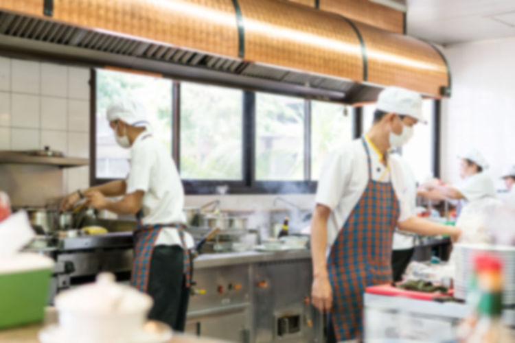 Chef Colleague Commercial Kitchen Coworker Day Food Freshness Indoors  Men Occupation One Person People Preparation  Real People Skill  Standing Working