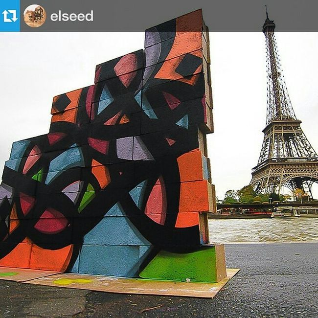 Repost from @elseed with @repostapp — When you can't find a wall, you just build one Ephemeralproject Parisjetaime Ettoiaussi jeanpierreparpin