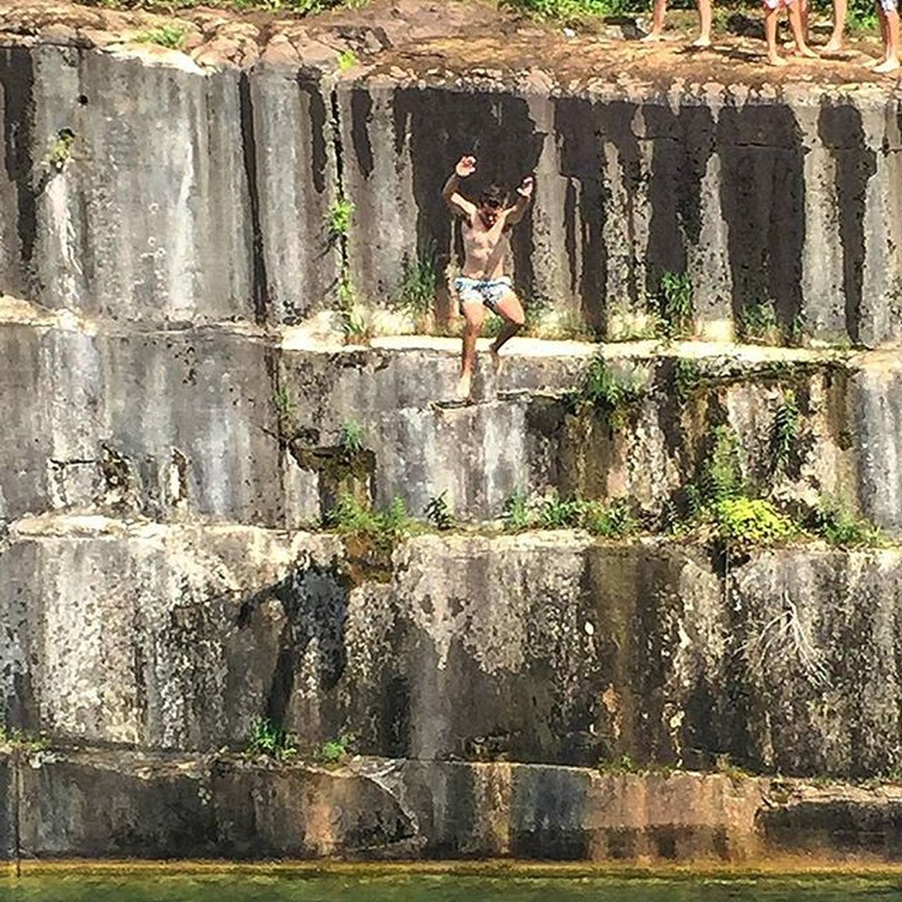 Beating fears one step at a time. Chubbies CliffJumping 30footer AND shout out to @shannon_rose96 for her mad camera skills