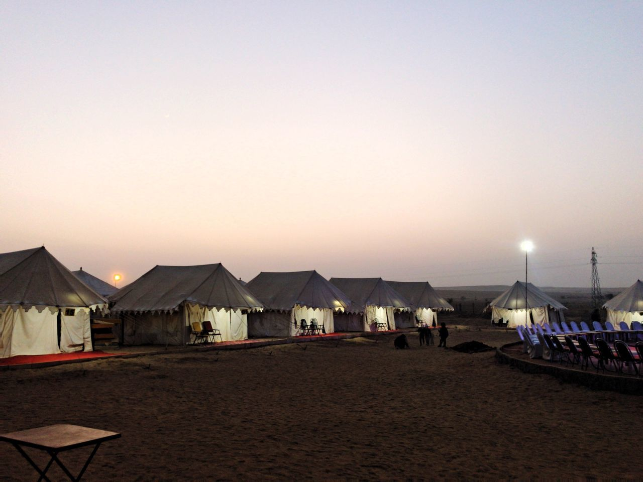 beach, sand, sunset, nature, outdoors, sea, clear sky, tranquility, vacations, tent, beauty in nature, sky, scenics, water, no people, day