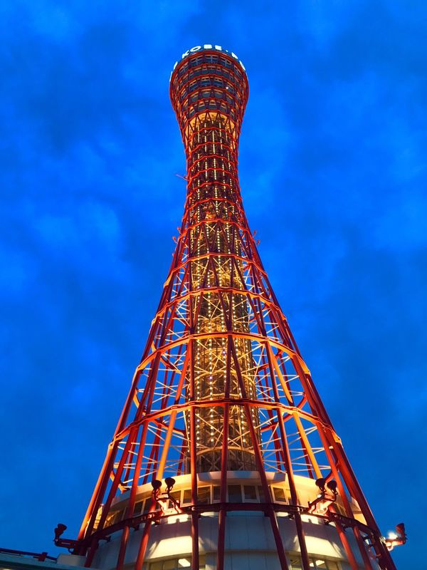 Low Angle View Architecture Built Structure Tower Sky Blue No People Day Outdoors Amusement Park Amusement Park Ride Tall PortTower Japan Kobe 150th
