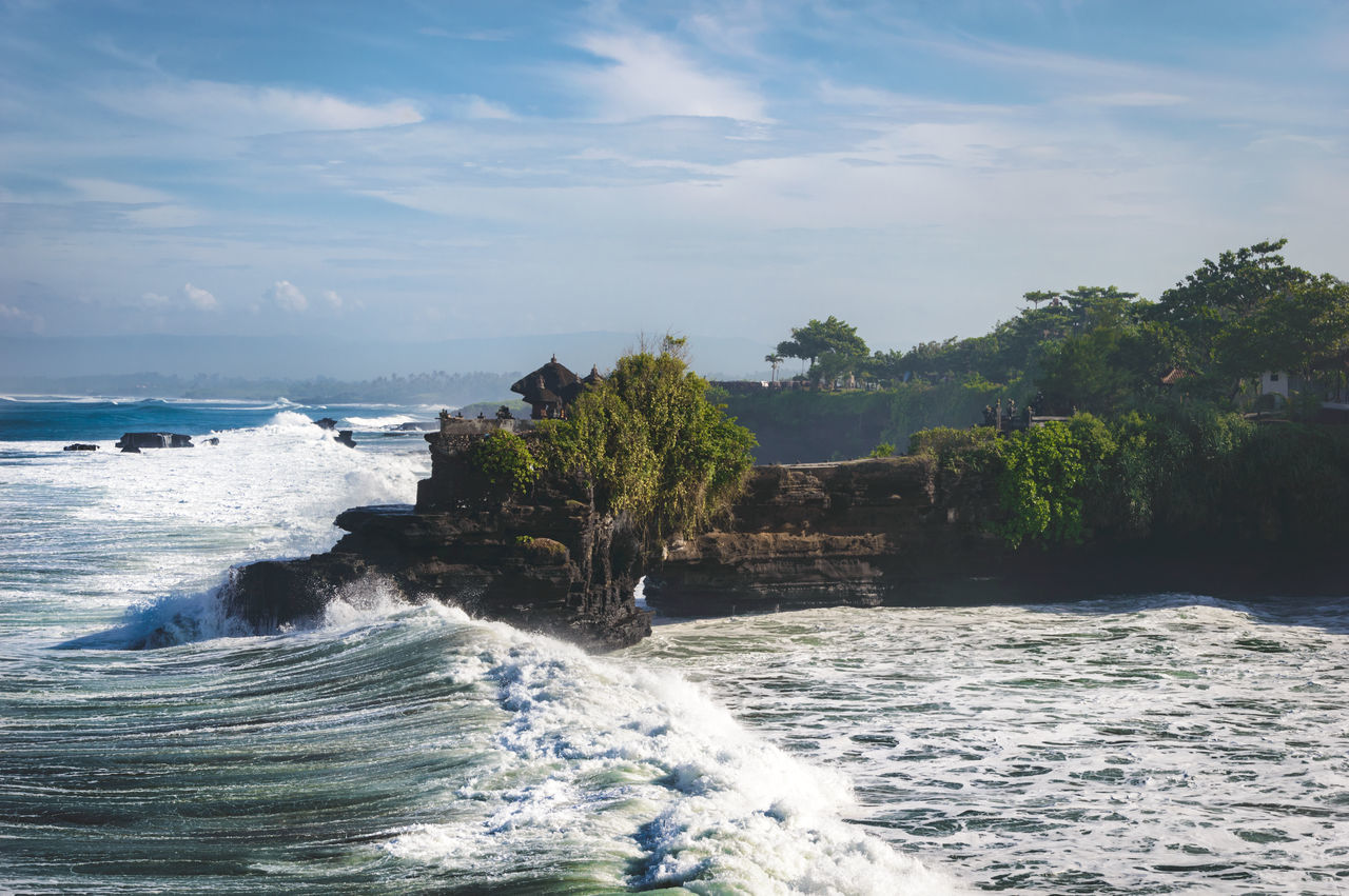 "Part of the beautiful hindu temple ""Pura Tanah Lot"" on Bali. Adventure Bali Breakwater Building Coastline Fine Art First Eyeem Photo INDONESIA Landscape Nature Non Urban Scene Ocean Outdoors Religious Architecture Rippled Rock Formation Scenics Sea Sky Tanah Lot Travel Traveling Trees Water Waves"