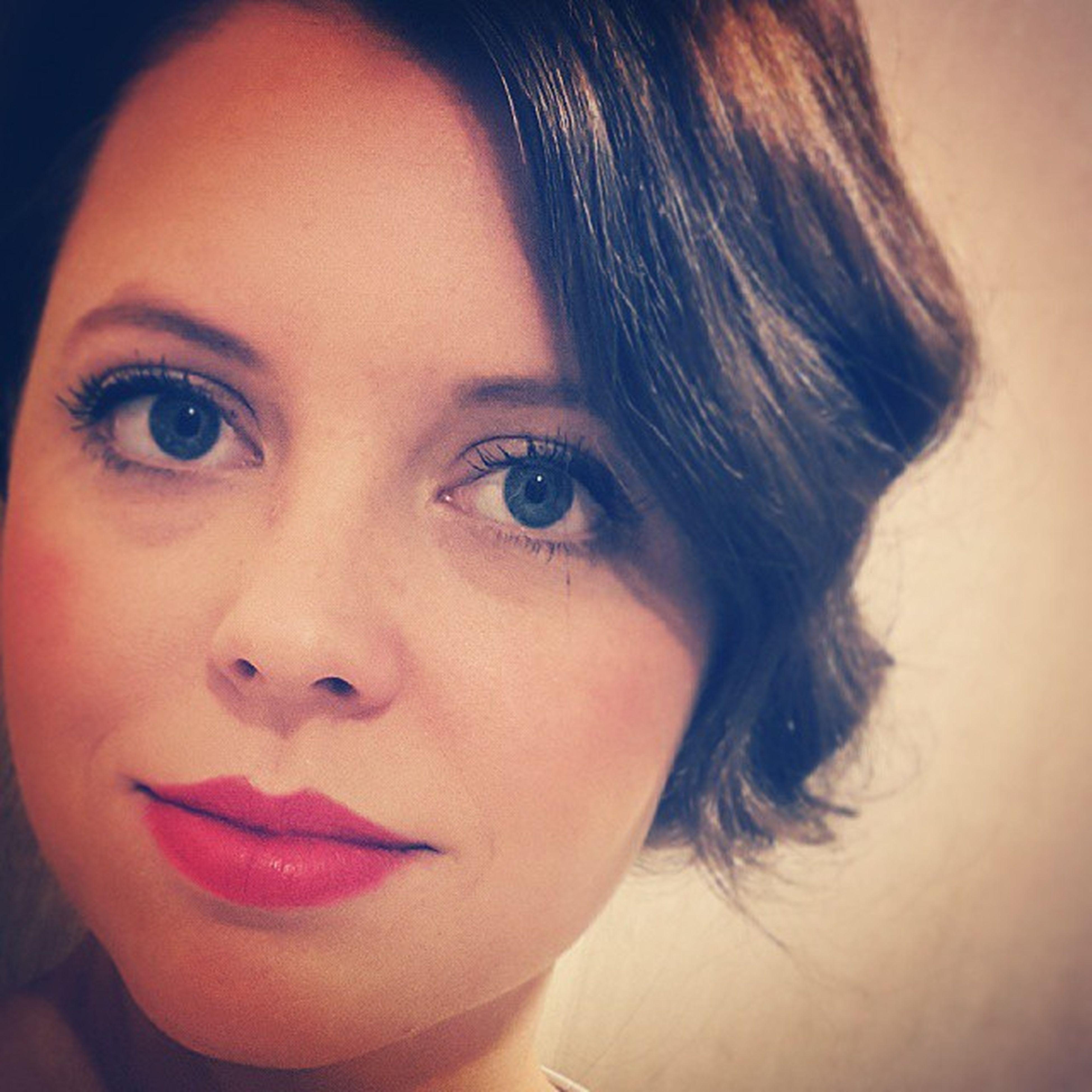 Makeup Sminke Redlips Har selfie follow instagram jul desember oppsatthår
