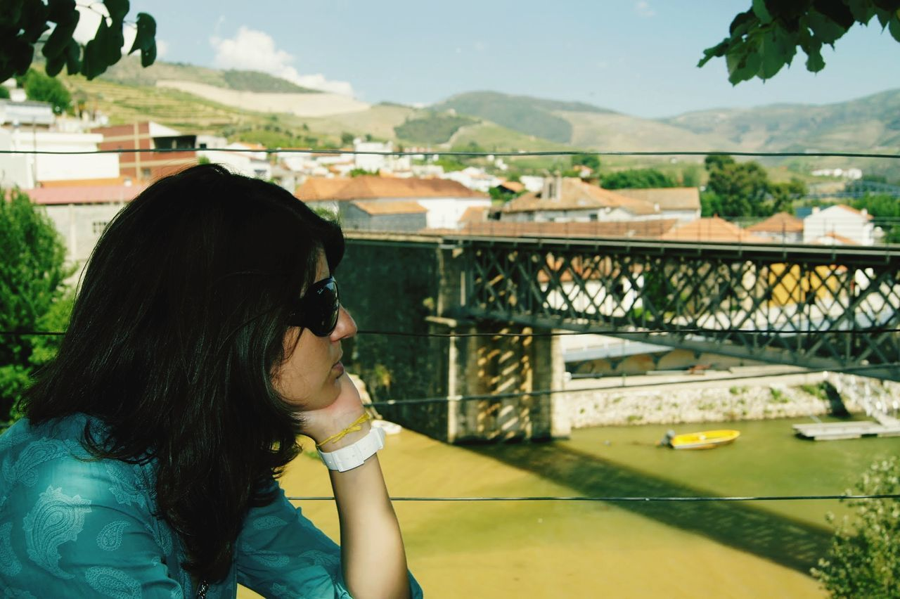 Sunglasses One Person One Woman Only Only Women Wireless Technology Beauty Long Hair Lifestyles Adults Only Black Hair Women People Adult Refreshment Outdoors Technology Portable Information Device Young Women Young Adult One Young Woman Only Douro  Travel Destinations Portugal Pinhão!