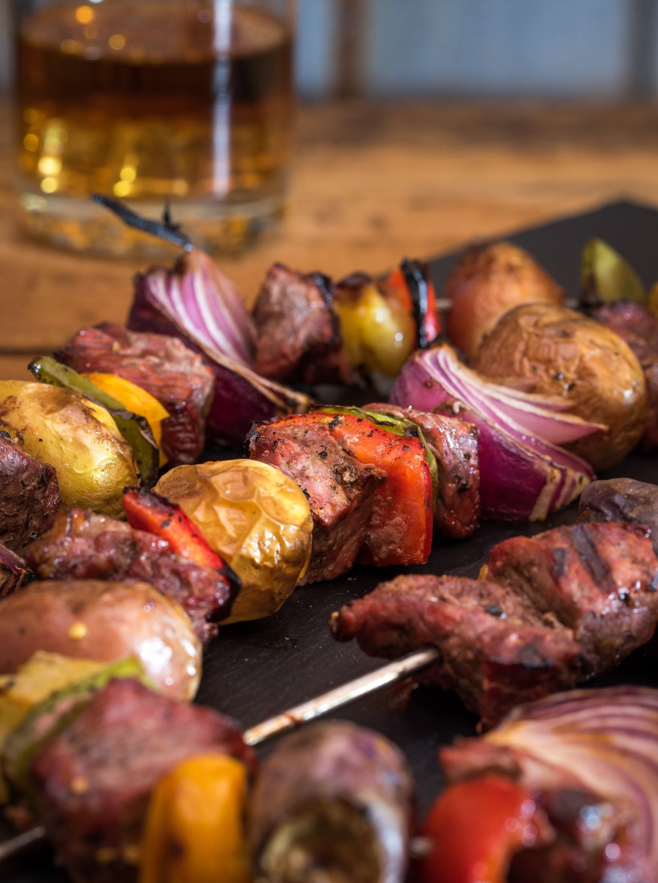 Ribeye Steak Kabobs Food No People Vegetable Ready-to-eat Photo Of The Day Kabob Steak Ribeye Savory Grilled Cooked Tasty Protein