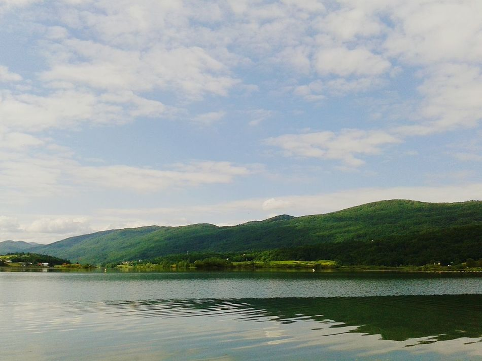 Lake Ogulin Croatia Hills View