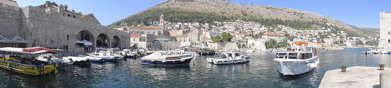 Croatia Dubrovnik Old Town Travel Architecture City Cityscape Clear Sky Cruise Dubrovnik Harbor King's Landing Moored Mountain Nautical Vessel Outdoors Port Sea Sky Town Travel Destinations Water Waterfront