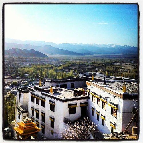 Leh Ladakh Early Morning Sun Light Monastery Spituk Prayer Spiritualty Monks Landscape Blue Sky Photography