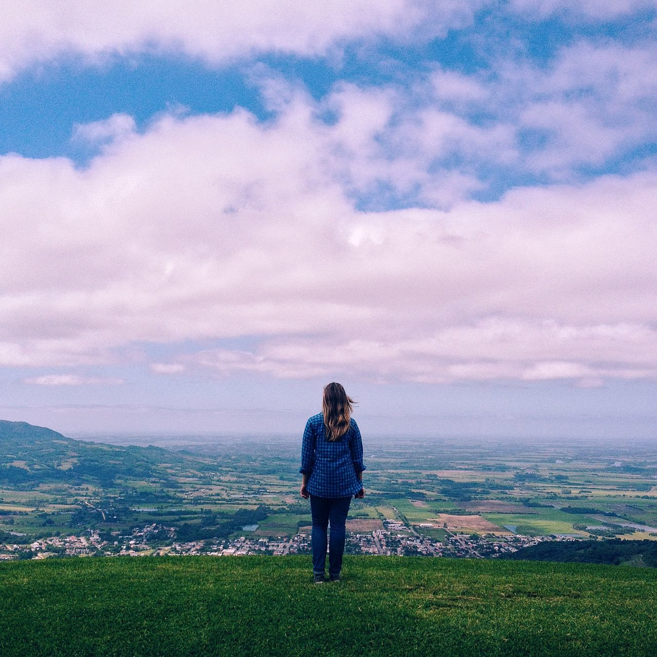 The Girl and the Horizon Adapted To The City Adult Adults Only Beautiful Girl Beauty In Nature Cloud - Sky Day Field Freedom Girl Grass Horizon Landscape Leisure Activity Looking Down Nature One Person Outdoors People Rural Scene Sky Skyline Young Adult