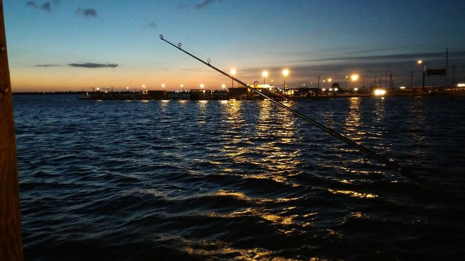 Fishing Sunset Water Sky No People Outdoors Nature Beauty In Nature Night Horizontal Tranquility Sea Taking Photos Talking Pictures Check This Out Tranquil Scene Corpus Christi Corpus Christi, Tx