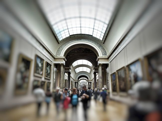 Crowd Travel Unrecognizable Person Blurred Motion Indoors  Large Group Of People Architecture