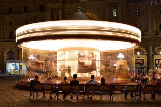 #Florence #Night Carousel Italy Light Magic Nightshot Travel Photography