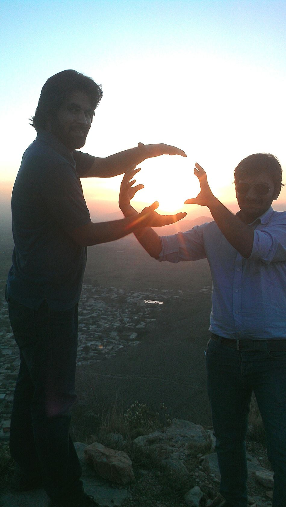 Having Fun Enjoying The Sun With Friends