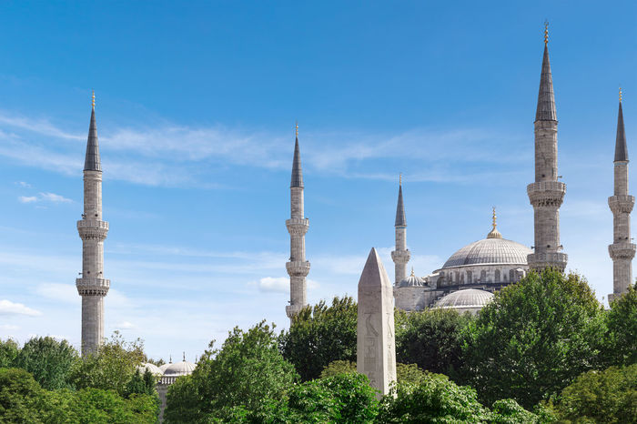Blue Mosque in Istanbul, Turkey Architecture Art Beautiful Blue Blue Mosque Building Exterior Builiding Built Structure City Day Design, Beauty And Strenght All Rolled Up Istanbul Landscape Old Outdoors Religion Sky Stone Tourism Tower Travel Destinations Tree Turkey