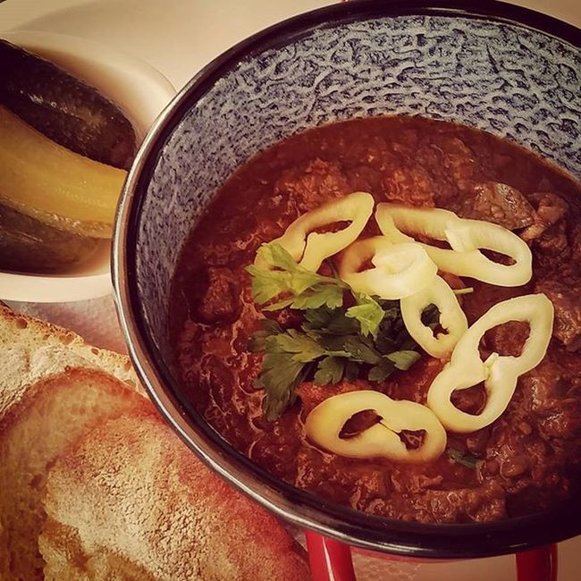 Beefgoulash Marhaporkolt Agorarestaurant Mutimiteszel foodpornfoodphotography foodstagram foodiefoodies