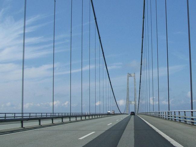 Bridge Funen Great Belt Bridge Journey Sjælland Storebæltsbroen Suspension Bridge