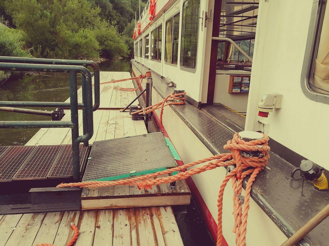 Mini Bollards. Danube Regensburg Inland Waterway Shipping Inland Water Vessel