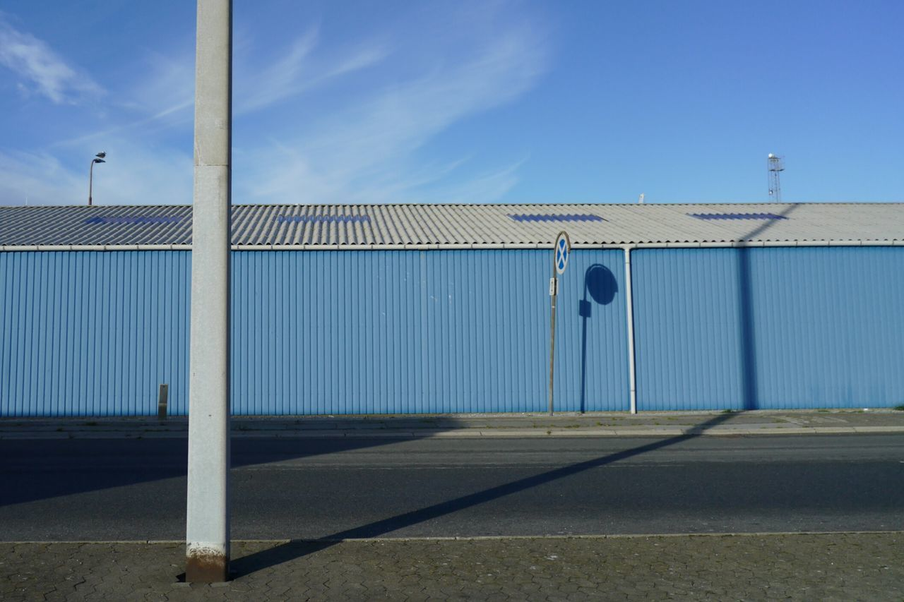 Blue Composition from the Harbour in Grenaa Djursland Denmark