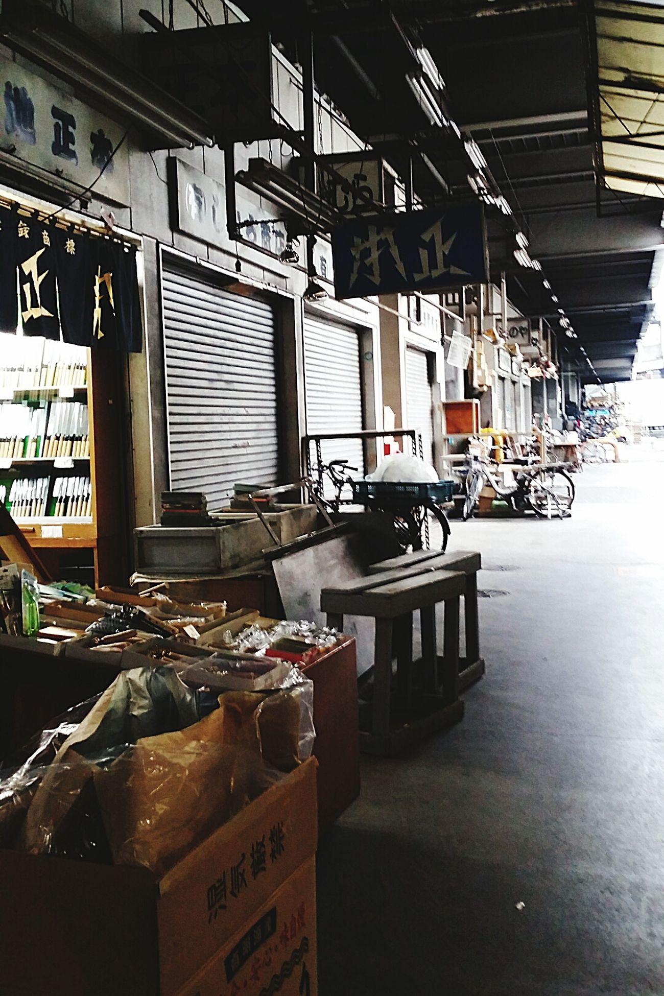 Shops Close Of Business Closed Shops Tsukiji Fish Market Winter 2016 JapanDec2016 TokyoDec2016 Tokyo Japan