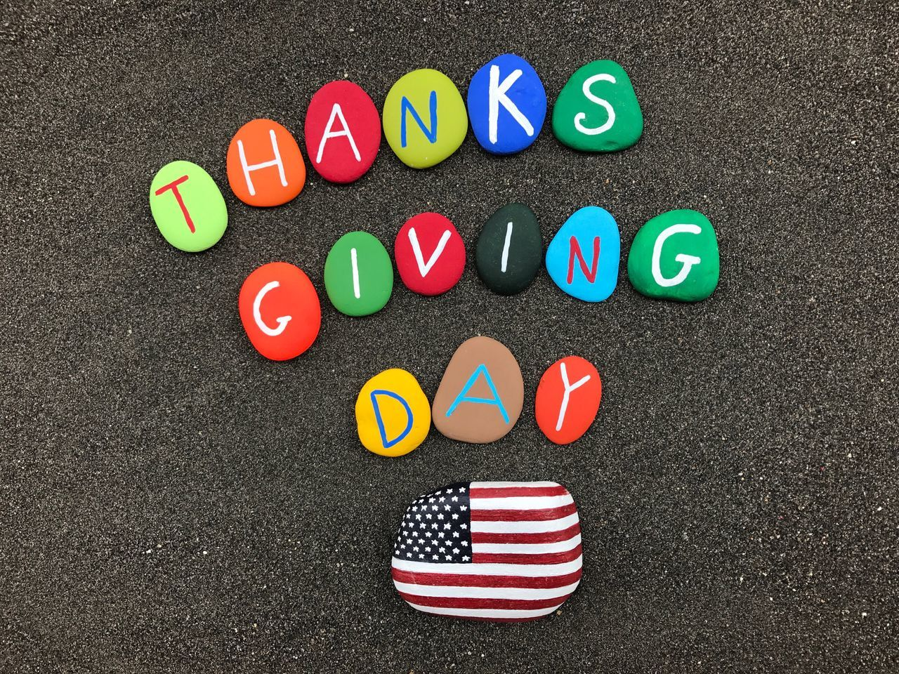 Beautiful stock photos of happy thanksgiving, multi colored, striped, high angle view, no people