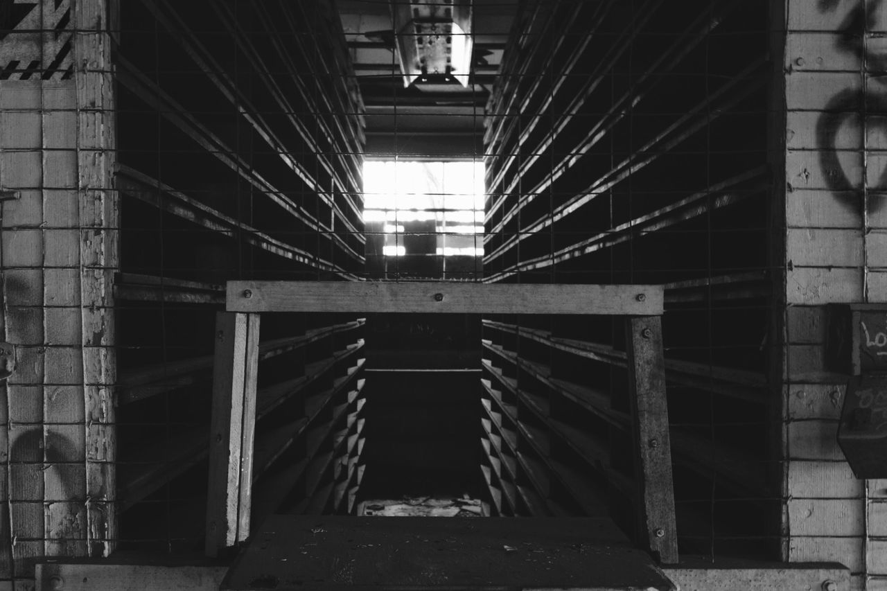 architecture, built structure, connection, indoors, no people, day, girder, city