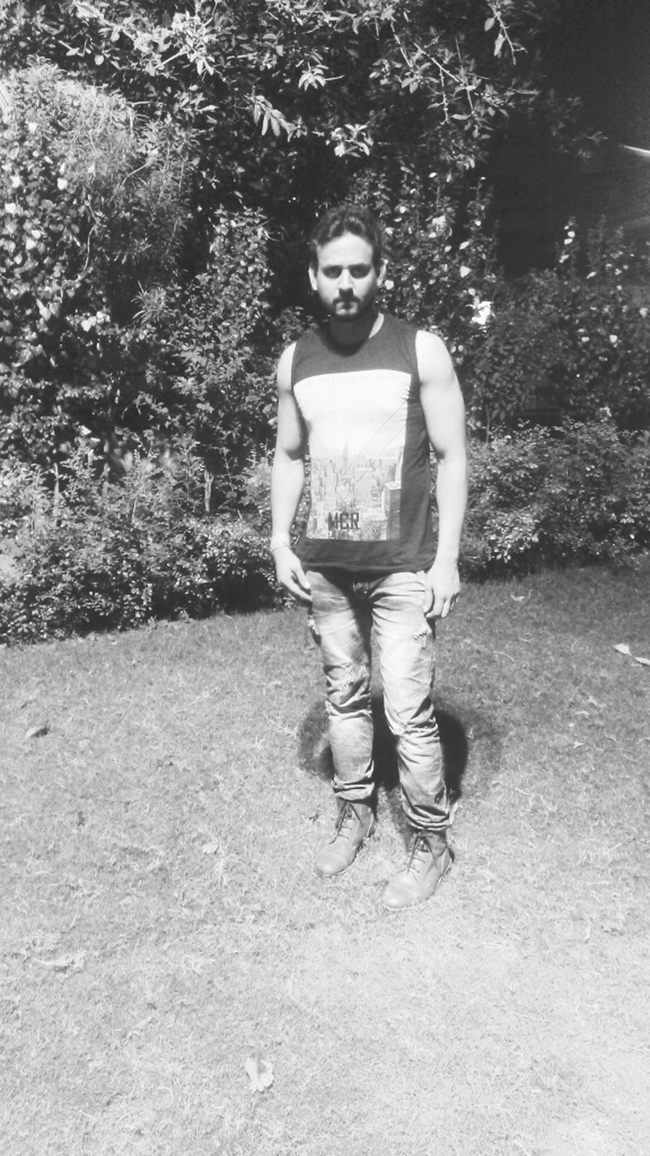 full length, childhood, person, lifestyles, casual clothing, leisure activity, elementary age, girls, boys, innocence, front view, tree, cute, park - man made space, standing, looking at camera, smiling, portrait