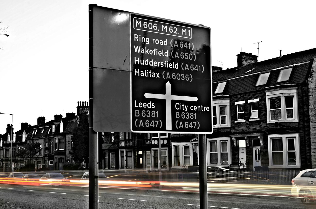 Which road are you taking? Light Trails Streetphotography Nikon D7000 35mm Bradford Bd3