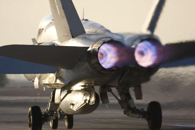 Afterburner Airplane F/a-18 Hornet Fighter Jet Heathaze Hornet Jet Plane TakeOff
