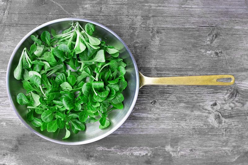 Corn Salad Salad Freshness Pan Foodphotography Feldsalat