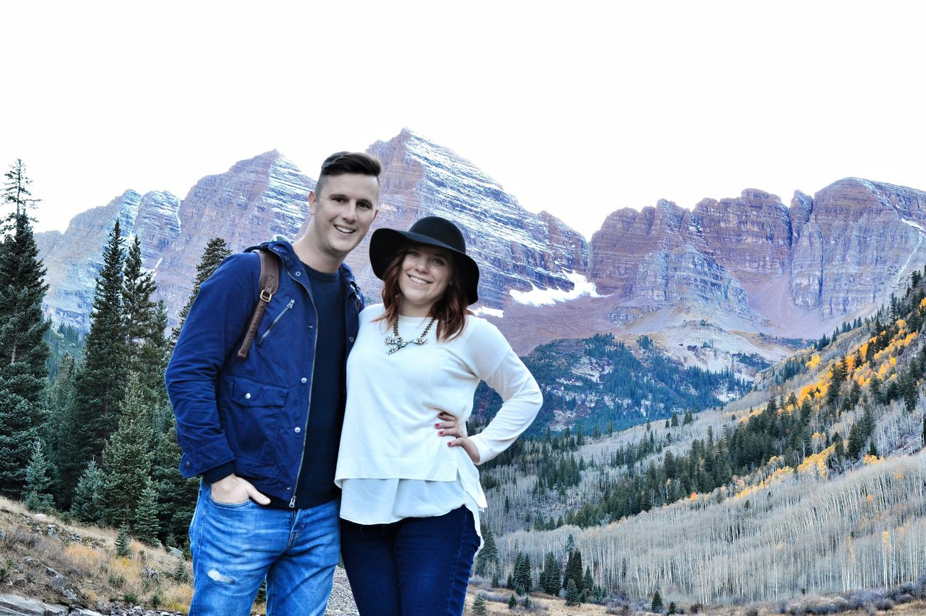 Me and my love! Maroon Bells Aspen Rocky Mountains Anniversary Love Lake Mountains