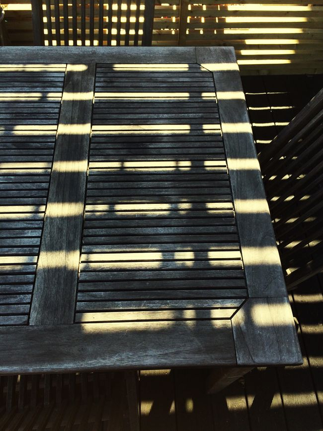 Table Sunyday Light And Shadow Woodtable Noon