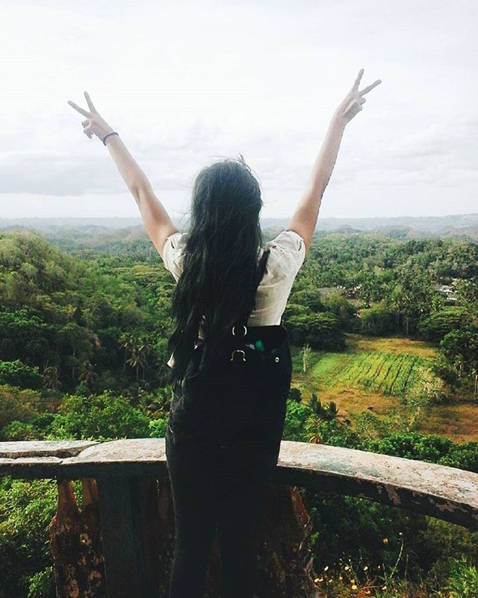 Destination 🙌 . . . . . VSCOPH Vscocam VSCO Travel Bohol Greenhair Mermaidhair Wanderlust The Great Outdoors With Adobe Philippines Let Your Hair Down Chocolatehills Summer