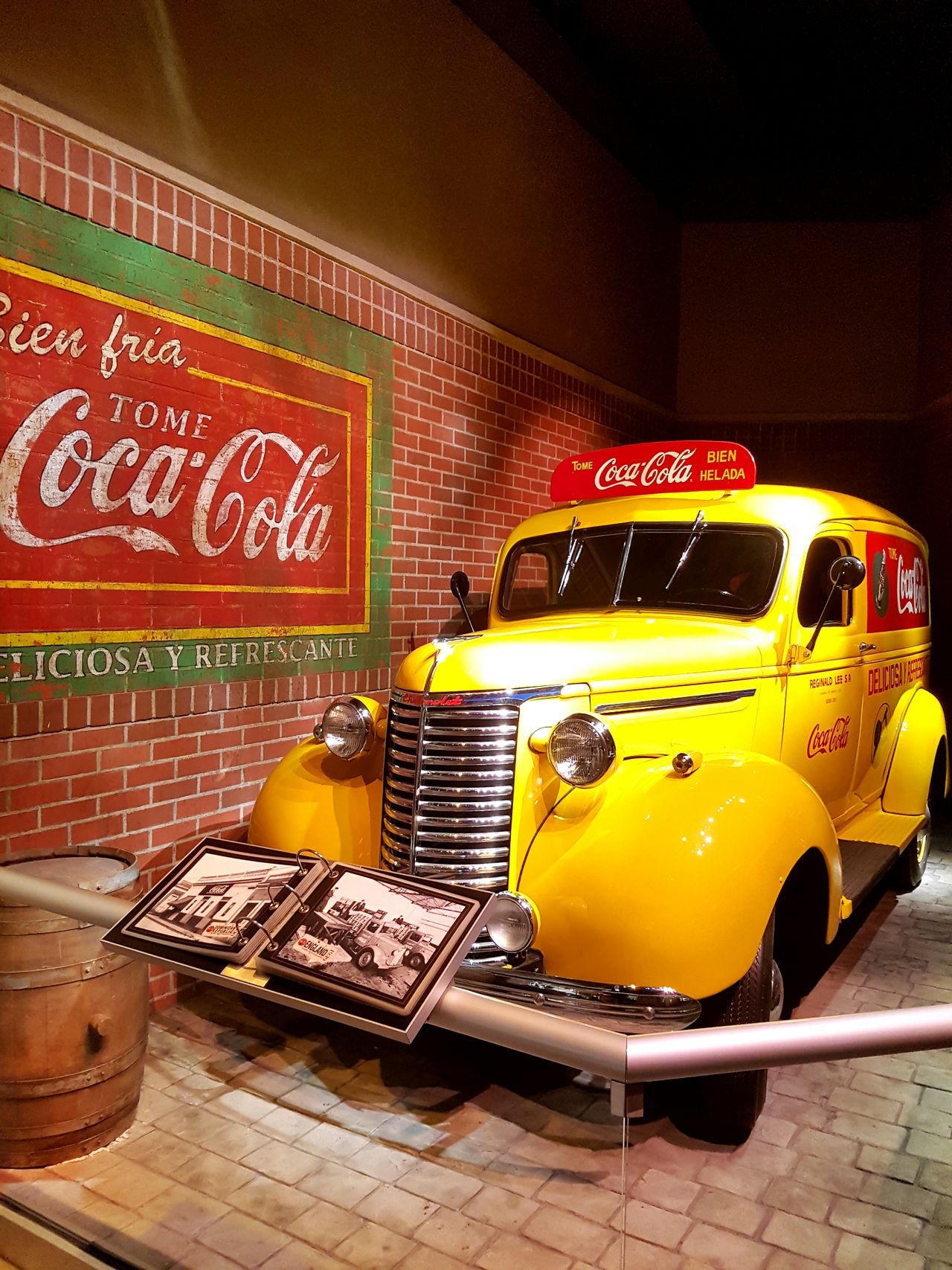 Happiness deliver Coca-Cola ❤ Fleet Indoors  Close-up Colorful Happiness Red Brick Wall Yellow Atlanta Georgia Museum Eyemphotography Those Were The Good Days
