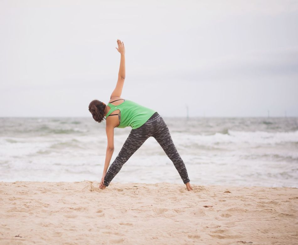 Beautiful stock photos of yoga, Arms Raised, Australia, Beach, Beauty In Nature