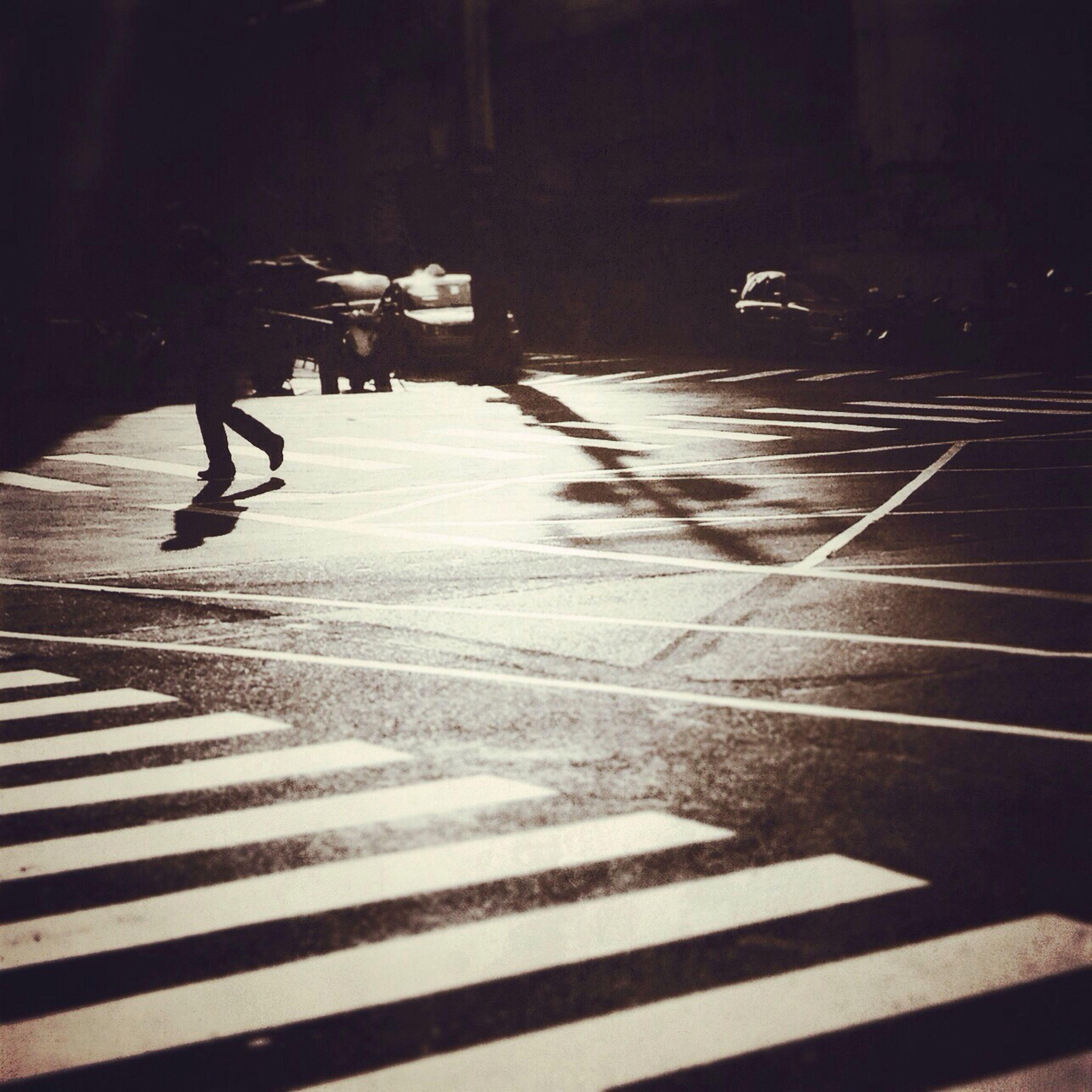 shadow, street, transportation, walking, road marking, sunlight, lifestyles, road, men, city life, on the move, leisure activity, zebra crossing, city, person, full length, the way forward, sidewalk