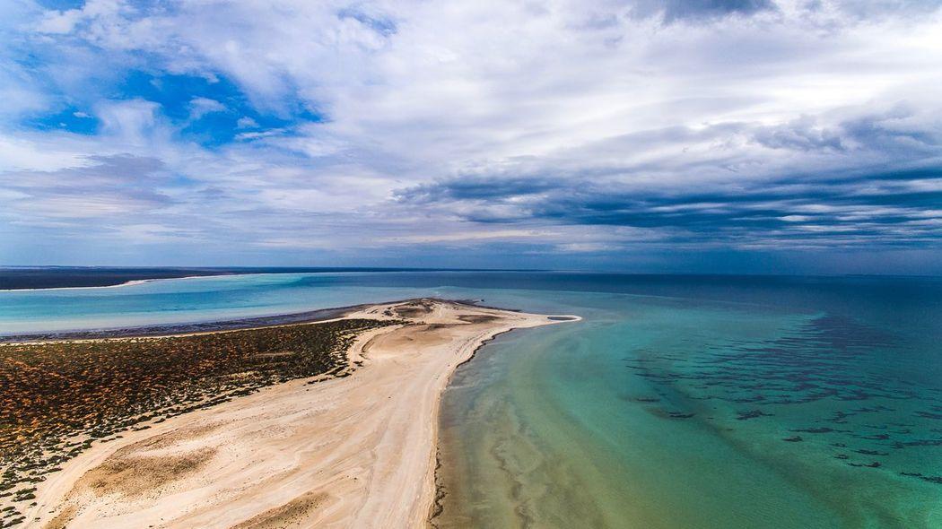 Australian Coral Coast Drone  Skypixel Dji EyeEm Selects Sea Beach Sand Cloud - Sky Scenics Sky Water Beauty In Nature Landscape No People Day Blue