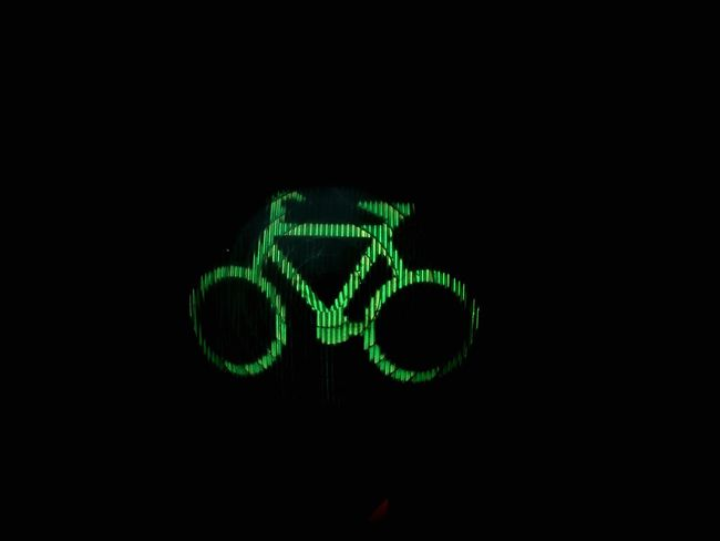 Bicycle Traffic Lights Things That Are Green Iconic