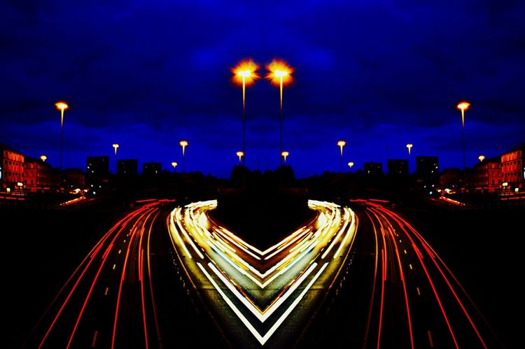 I Love My City Motorway Art Heart Shaped  Heart Of The City Vivid Colours  Long Exposure Creative EditHeart Shaped Edit Vivid Colors My Friends That Connect EyeEm Best ShotsCharing cross, Glasgow, busy busy pubs clubs offices and cars, ♥ of the city