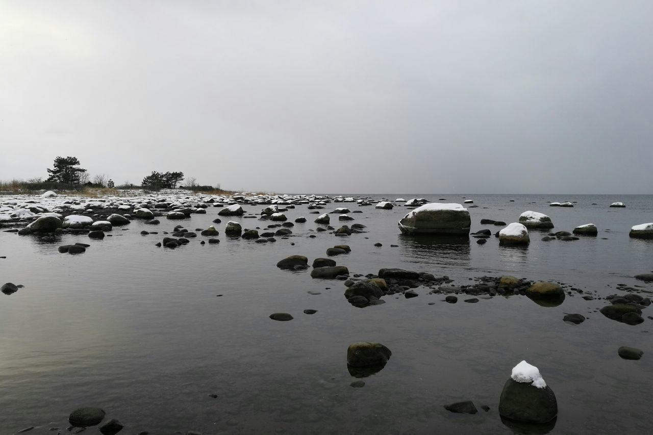 Rocks Coastline Sea Snow Rocks In The Sea Winter Seaside Snowy Rocks Snowy Nature