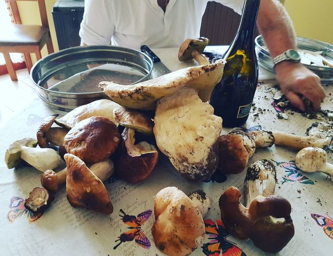 Food And Drink Food Indoors  One Person Table Healthy Eating Human Body Part Real People Freshness Human Hand Men Close-up Ready-to-eat Porcini Porcini Mushrooms Mushroom_pictures Mushrooms Freshness Food And Drink Plate Country Enjoying Life Country Life Taking Photos Autumn