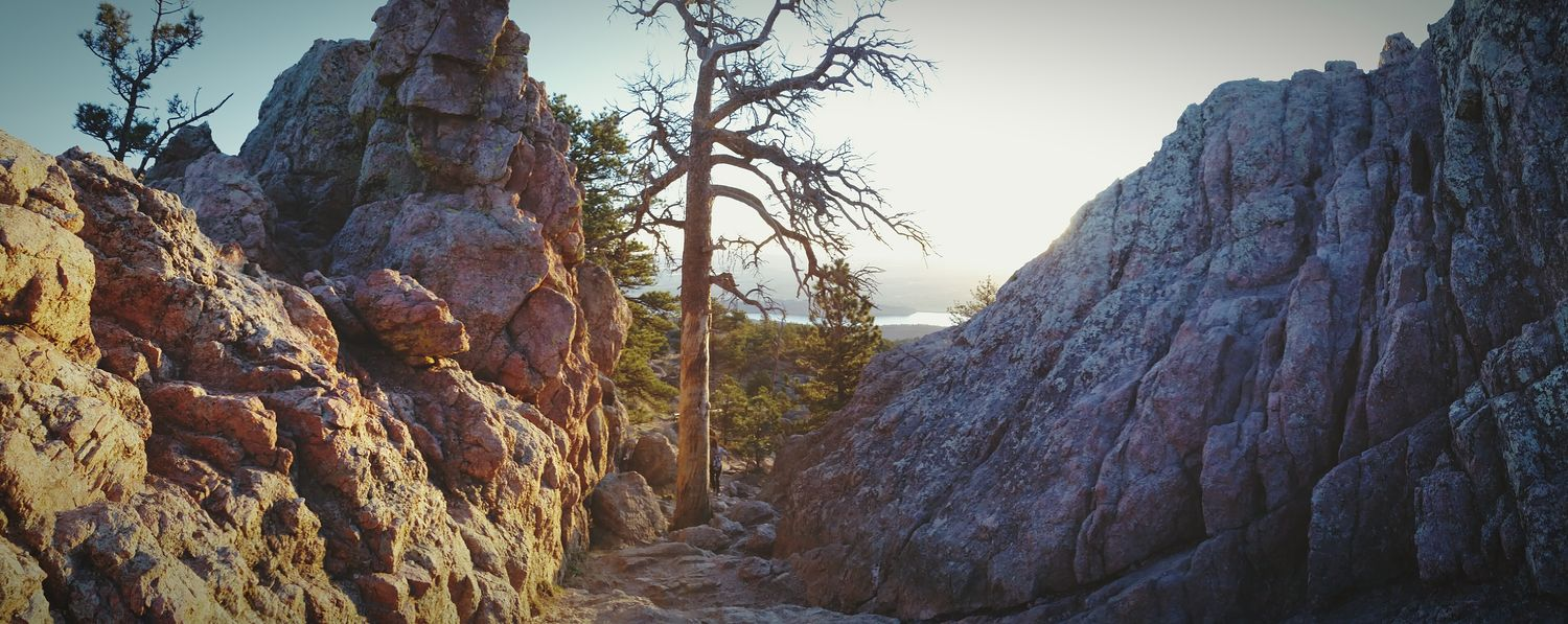Horsetooth sunrise hike, on the way down! Hiking Horsetooth Sunrise Nature Taking Photos Check This Out
