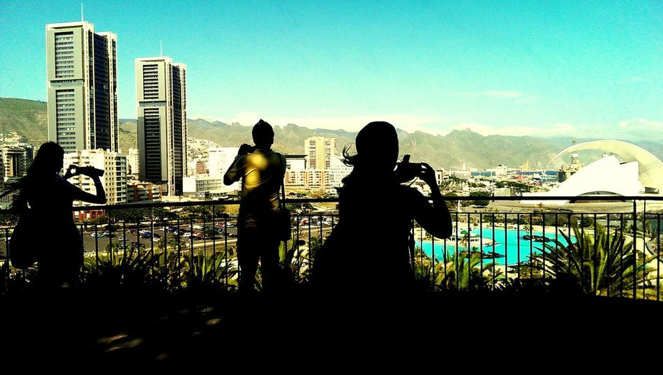Photographing Photographers Taking Photos Cityscape Silhouette